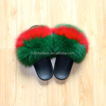005e3230d7a90 Factory Wholesale Genuine Latest Fashion Girls High Heel Fox Fur Slides  Slippers /real Fur Sandals - Buy Fur Slides,Girls High Heel Sandals,Latest  ...