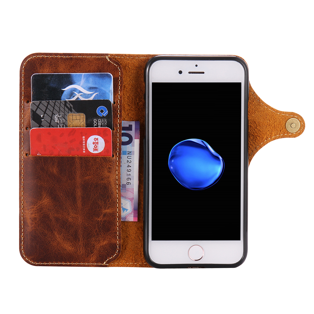 Custom Real Premium Leather Mobile Phone Cases Cover for iphone 7G 8G фото