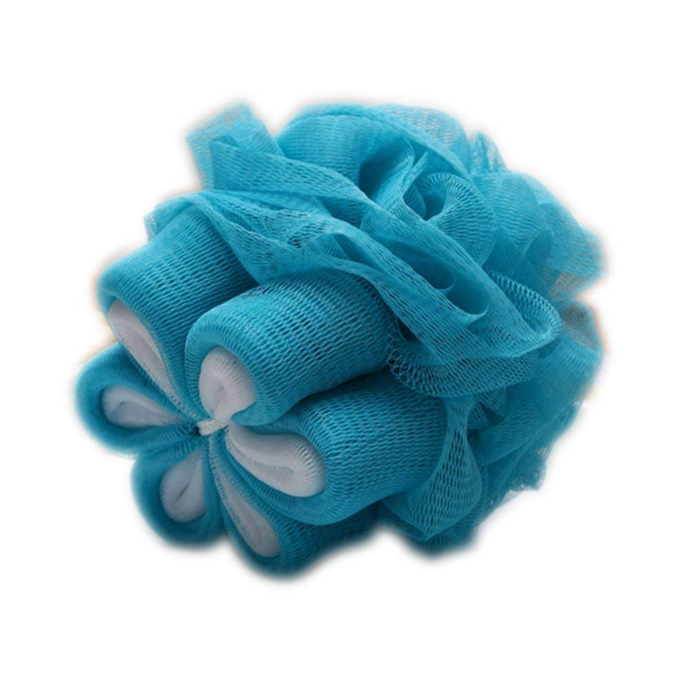CIMU Loofah Bath and Shower Sponge,Ultra Fine Bath Lily,Exfoliating Mesh Pouf Bath Sponge Ball (Blue)