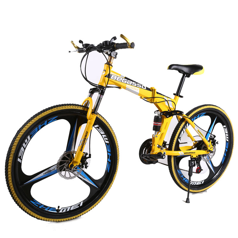 2019 folding mountain <strong>cycles</strong> ,26inch intergrated wheel mtb ,mountain bike with suspension fork