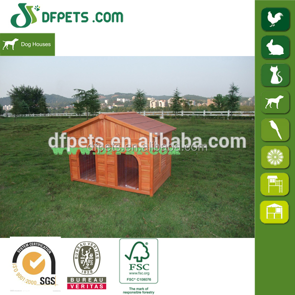 Large outside farming 2 doors wooden Pet tube dog kennel