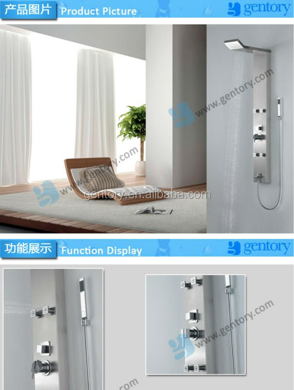 bathroom design with hand #304 Stainless Steel bathroom fittings shower panel SA105