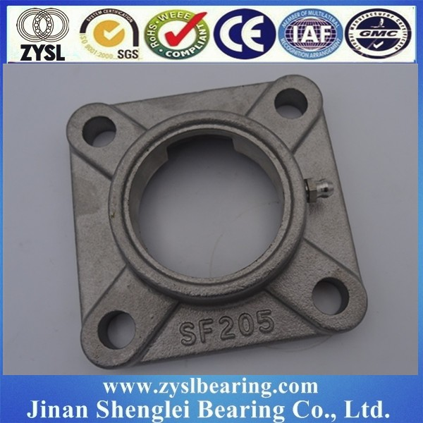 china supplier stainless steel Cast iron square-flanged bearing unit casting block 4 bolt flange ball bearing house UCF309