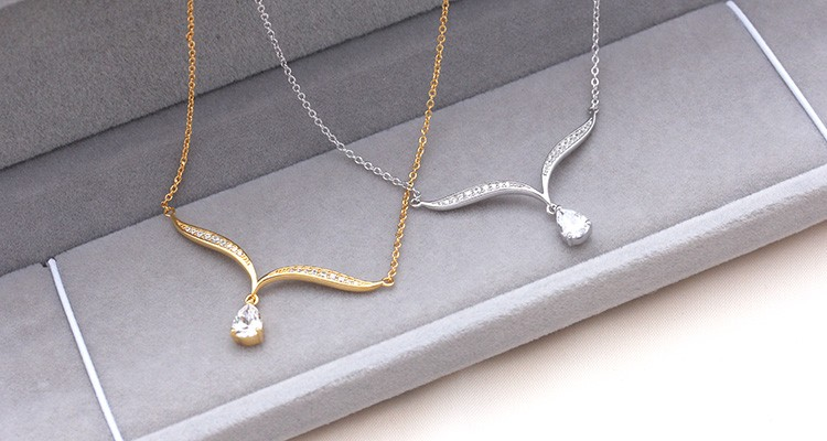 2017 trendy unique fashion jewelry handmade aaa grade big stone 2017 trendy unique fashion jewelry handmade aaa grade big stone 18k simple gold chain necklace designs aloadofball Image collections