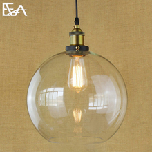 Modern Industrial Antique Brass Glass Shade Exposed Hardware Wrapped Cord Downlight Vintage pendant light