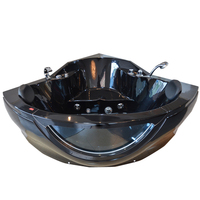 Fashion competitive price black acrylic duravit corner shallow acrylic common 1400mm bathtub