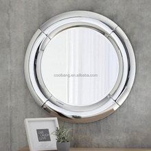 Home decor round wall hanging mirror with curved framed