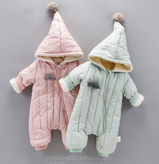 2cdceca92a21 baby winter 0-3 months of newborn out clothing climbing jumpsuit baby romper