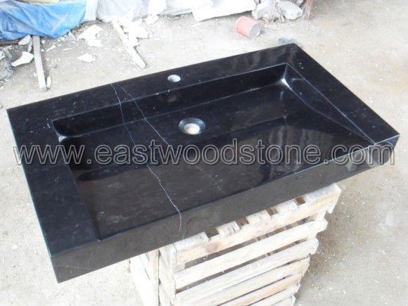 Vasque de noir granit lavabo de salle de bain id de for Lavabo noir salle de bain