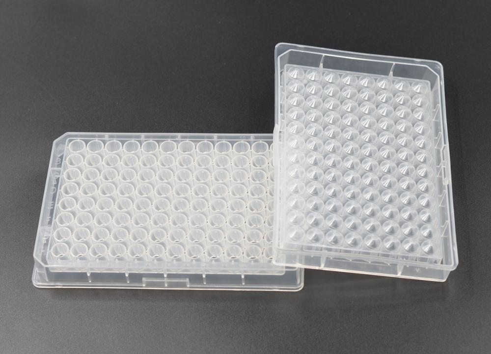 disposable plastic 0.36mL 96 Round  V-bottom deep Well Plates  for laboratory