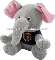 Chicago Bears Plush Baby Elephant wearing t-shirt