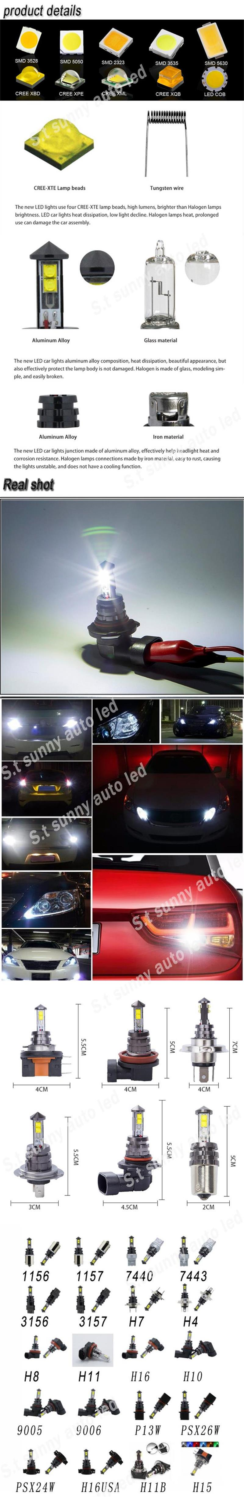 Yellow light bulb h4 xml2 u2 flashlight turbo led headlight hi lo xml t6