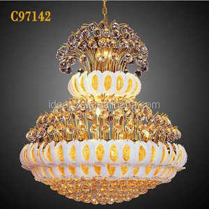 C97142 contemporary led chandelier pendant light, gym light 100w industrial pendant lighting, popular crystal pendant light
