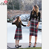 Dresses family matching dress clothing black plaid clothes mom and daughter matching clothes