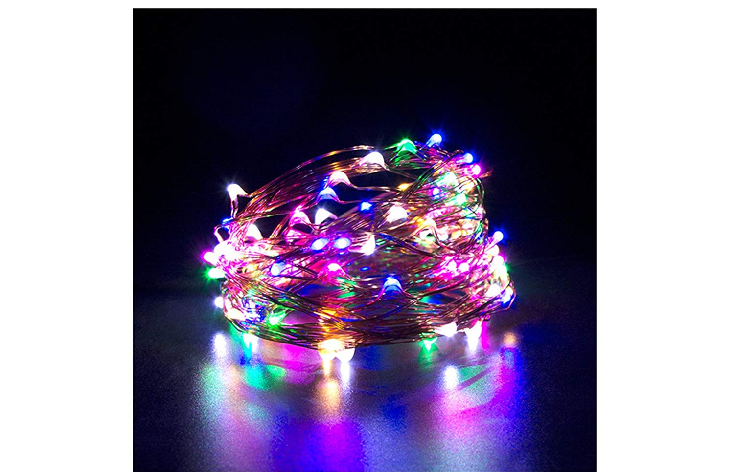 LED String Lights USB, LED Fairy Lights, AIMENGTE 50 LEDs/100 LEDs 16.5ft /33ft LED Starry Lights Copper Wire Christmas DIY Decorative Night Lamp Indoor For Bedroom, TV. (16.5ft /50 LEDs, Multi-Color)