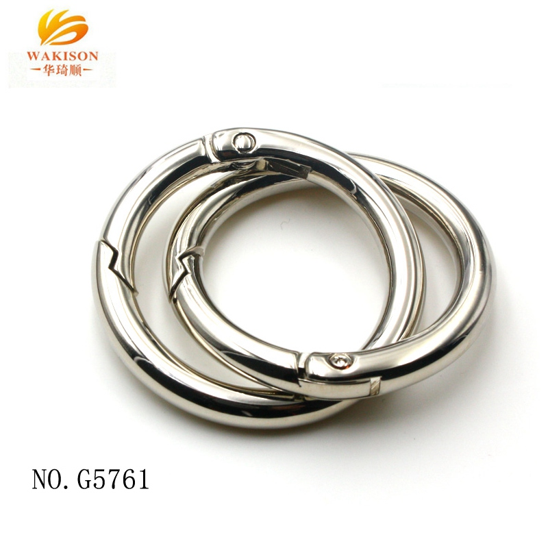 빈 키 빈 Metal Round Wire Snap 링 Clip 32mm