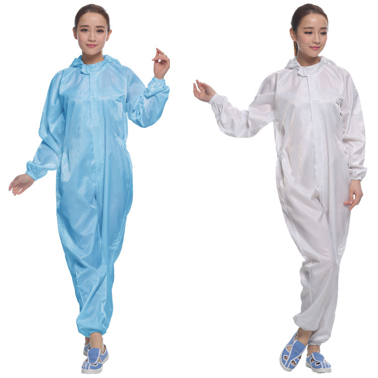 2018 ESD coverall cleanroom clothes Anti-static garments ESD clothes supplier from China
