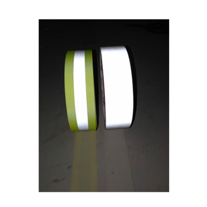 fluorescent yellow silver yellow 50mm reflector aramide flame retardant fabric tape fr sewing fire resistance reflective tape