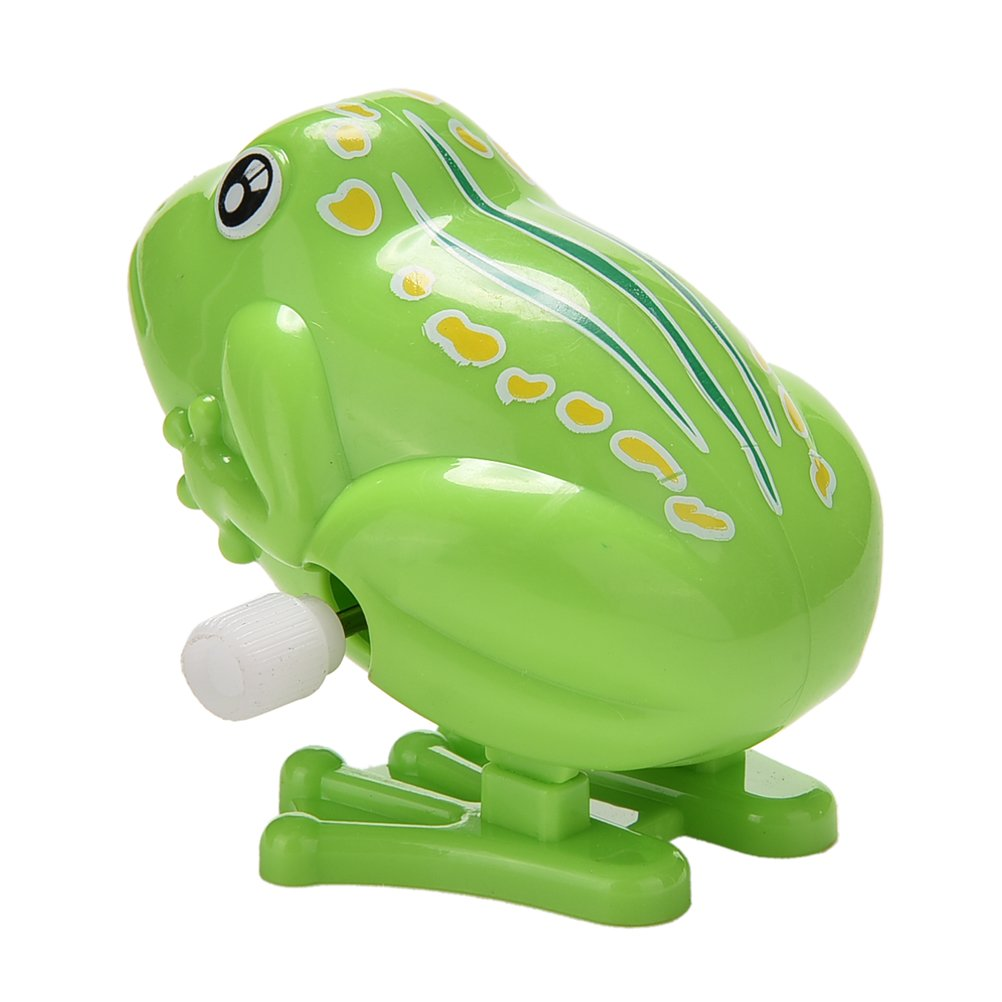 1 Pcs Wind up Jumping Frog Plastic Classic Clockwork Toys Educational Toys Kids Gift