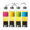Promotional Drinking Airtight Portable Glass Sports Water Bottle With Infuser