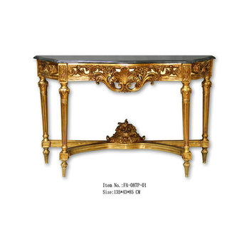 Living Room Furniture Hand Made Baroque Furniture Console Gold Buy