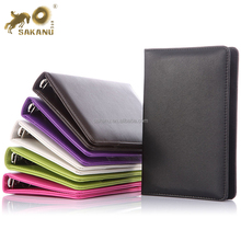 colored Pu Leather 6 Metal Ring Binders Files Folder A5 Travel Portfolios