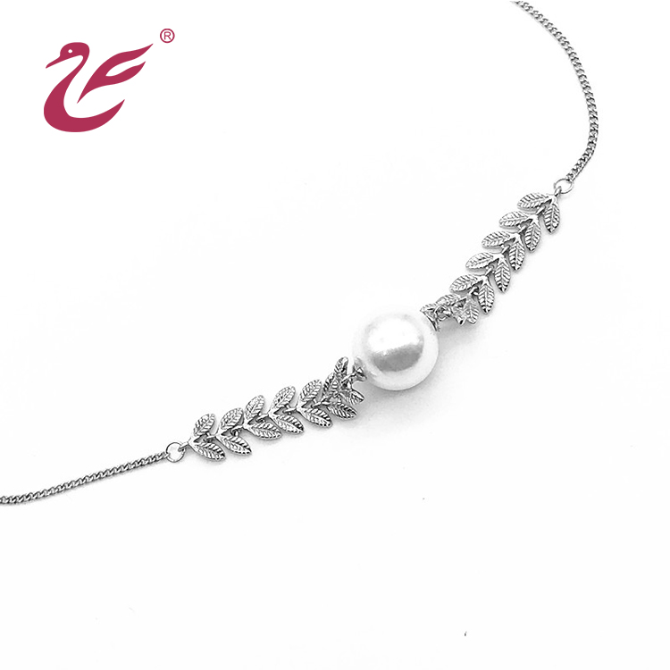 Wholesale custom jewelry necklace long chain pearl necklace
