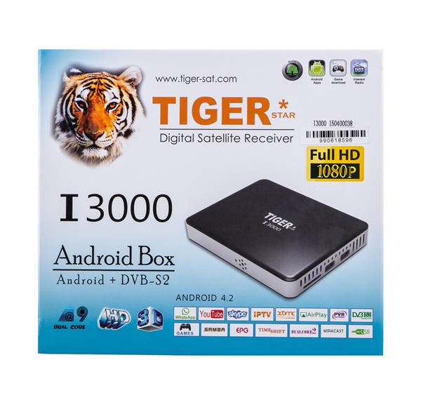 The Most Cheapest Tiger I3000 Arabic Live Channels Smart TV Box android box streaming movies 3D HD MI