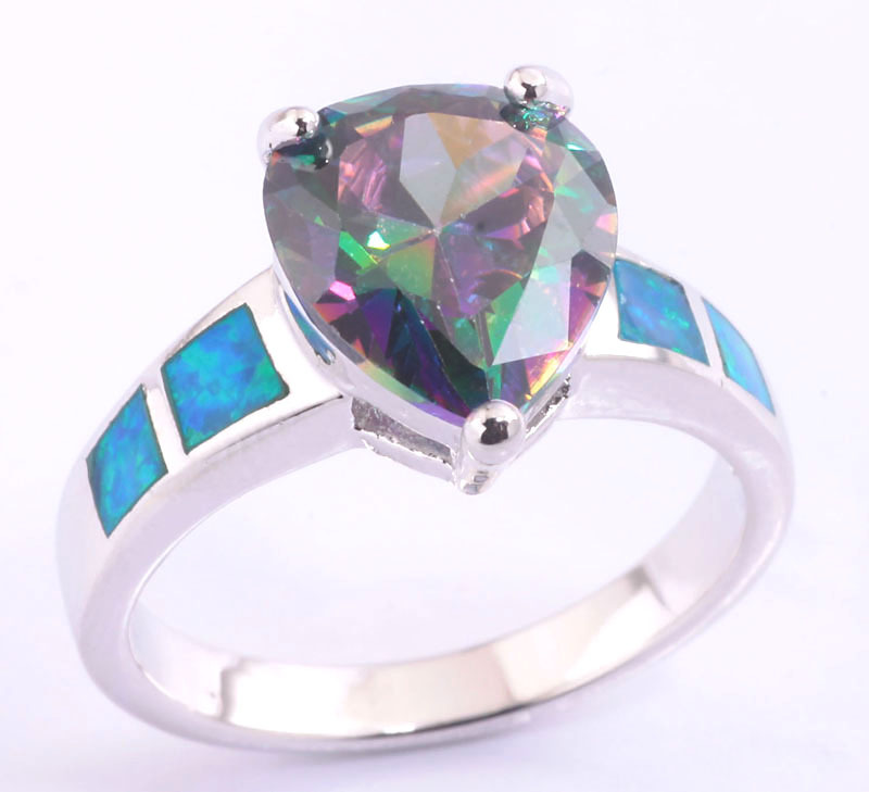 women mystic rings item topaz genuine ring rainbow silver cut for sterling engagement jewelry fire from wedding emerald natural in hot