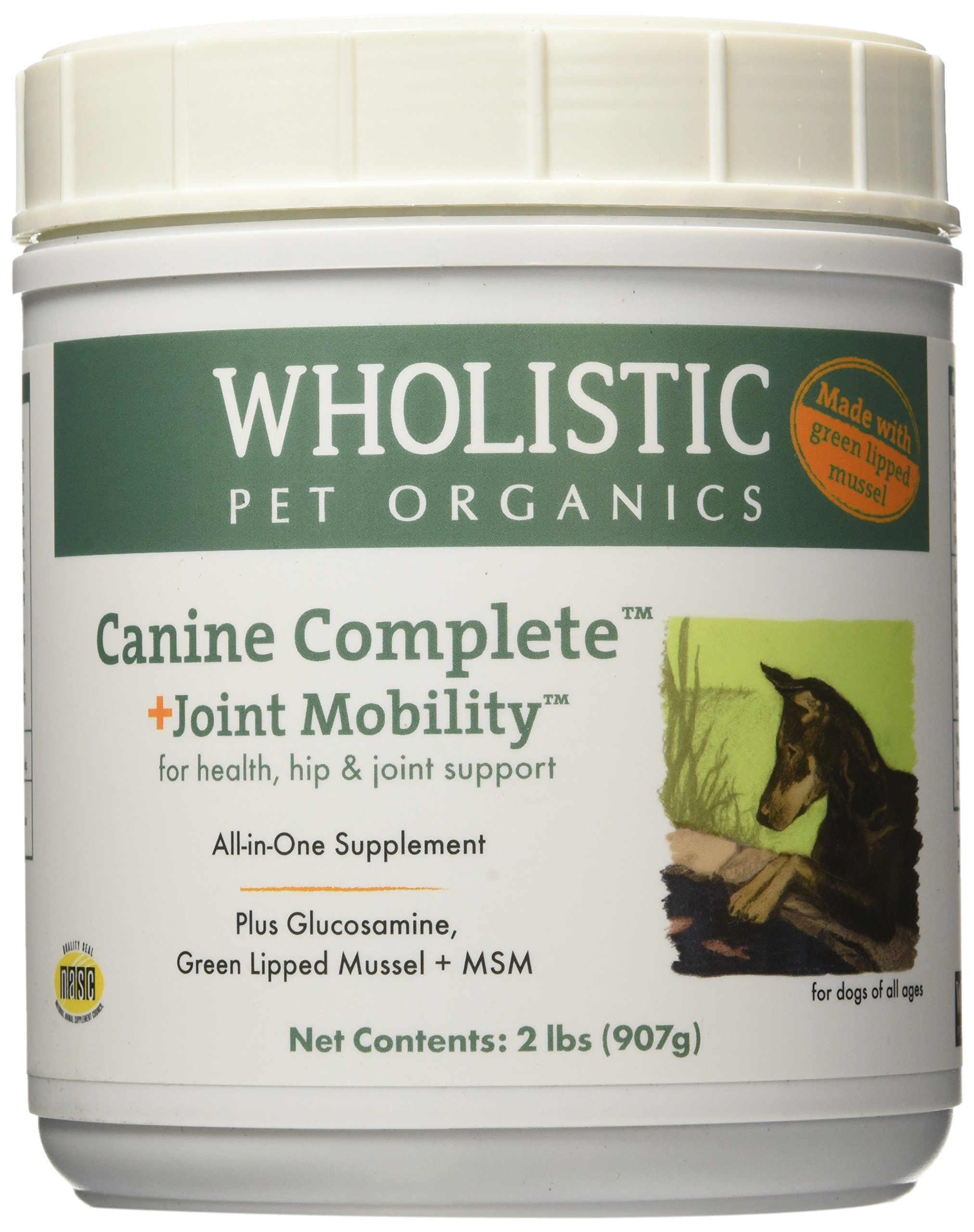 Wholistic Pet Organics Canine Complete Plus Joint Mobility with Green Lipped Muscle Supplement