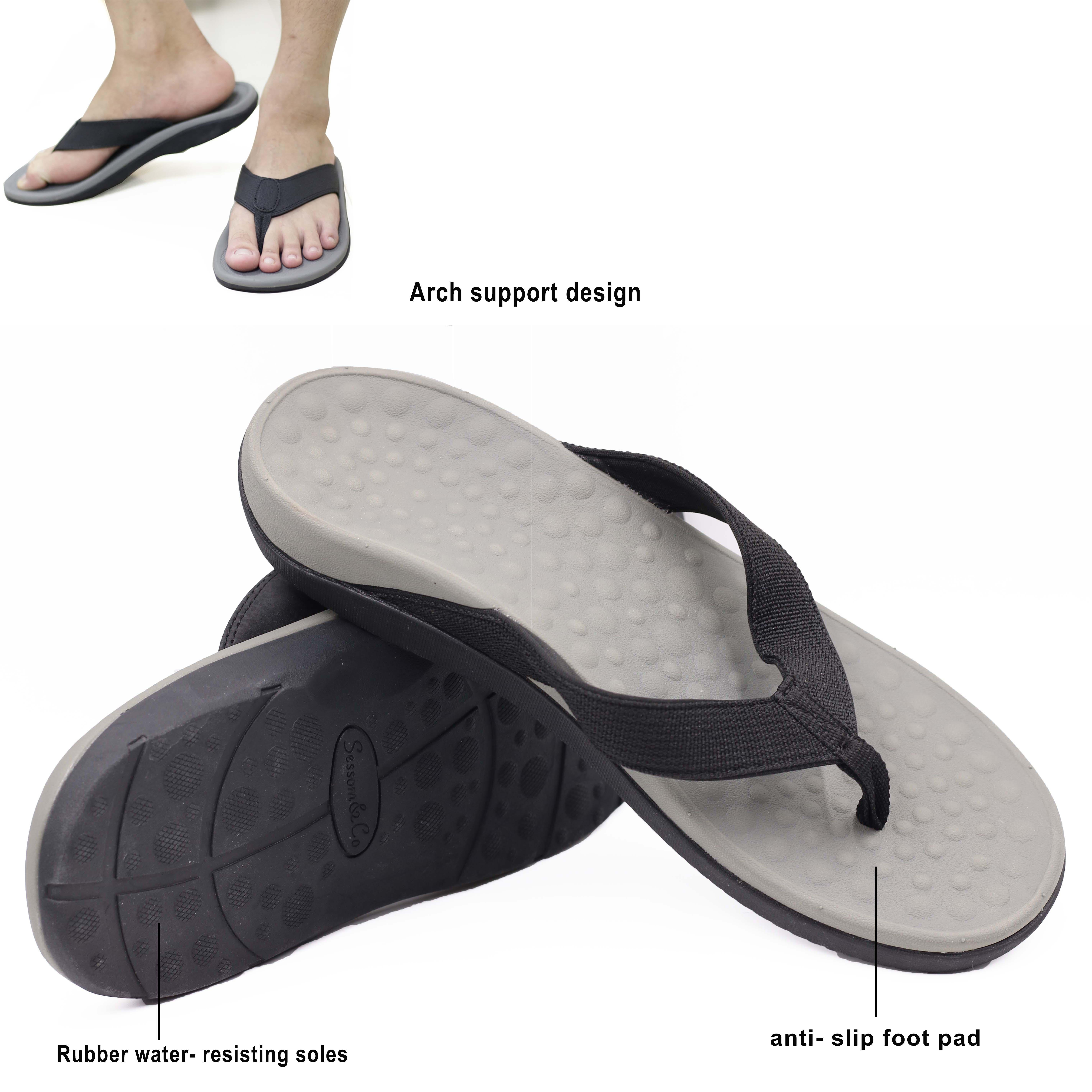 820726e9f5 flat feet orthotic flip flop, eva orthopedic slippers, arch support sandals