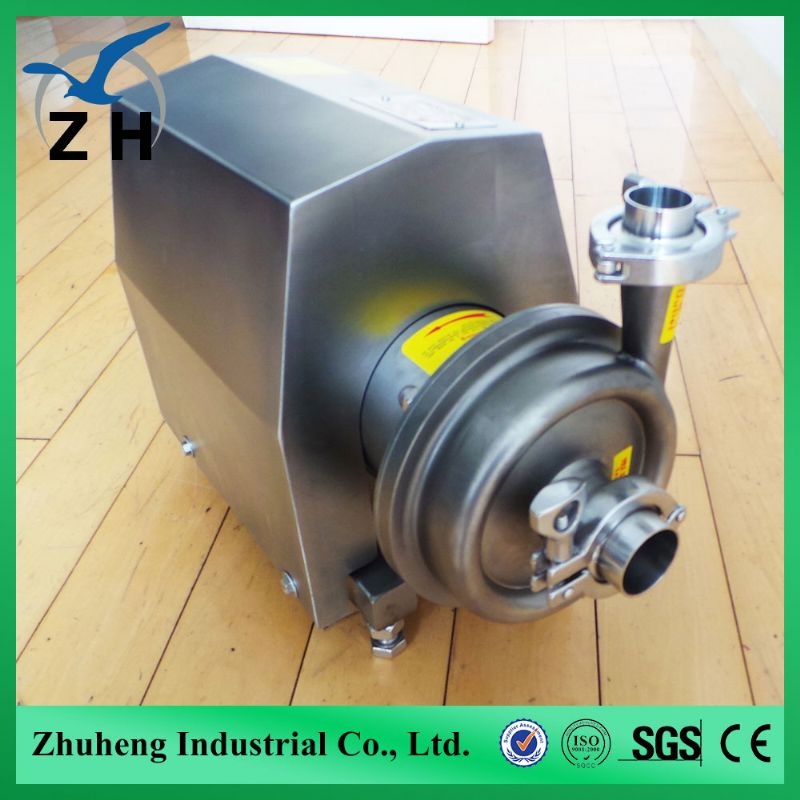 food grade stainless steel sanitary Centrifugal pump 0.75hp water pump taizhou happy water pump