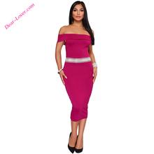 425a538c2 Latest Sexy Short Sleeve Fuchsia Off Shoulder Midi Night Dress · Nanan City  Shiying Sexy Lingerie ...