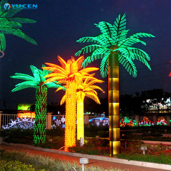 Large Decorative Artificial Led Palm Tree Lights Holiday Outdoor Lighted