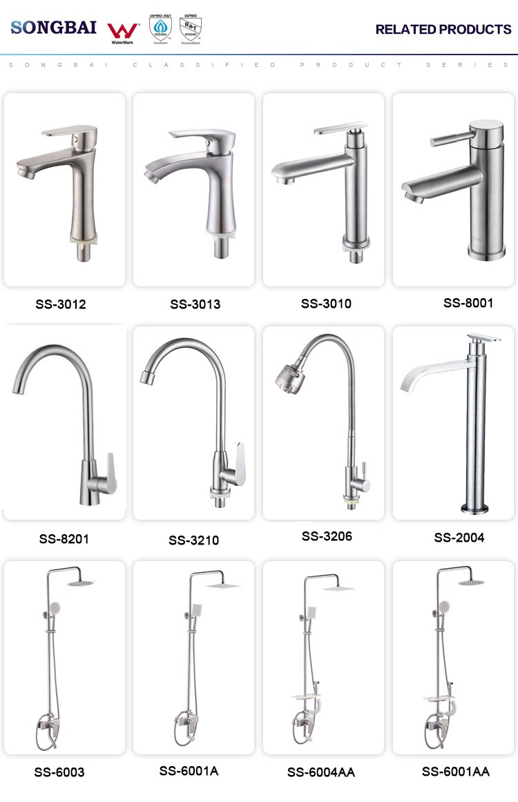 classic 304 stainless steel single cold bathroom faucet