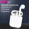 i12 TWS Touch Control True Earbuds 3D Headset Stereo Headphone supp bass Wireless 5.0 Bluetooth Earphone for iphone Android