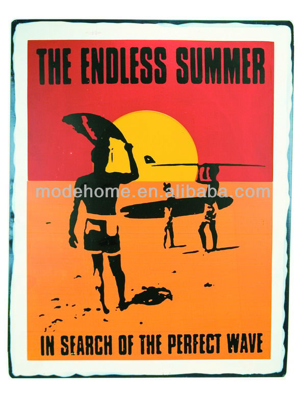 2013 Hot Sell Cheap Vintage Tin Sign with Endless Summer