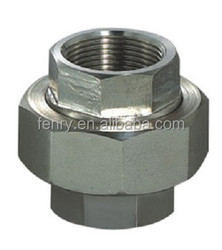 mss sp-83 stainless steel 304/316 thread forged fitting hexagon union