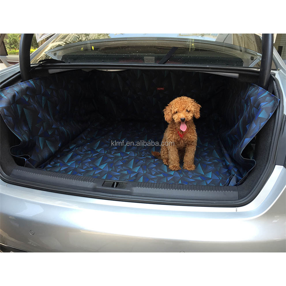 OSGOODWAY1 Cargo Cover Pet Car Protector Waterproof Stain-resistant Fits most Cars Seat Belt Accessible 5 Colors OS003