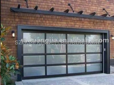 anodis noir cadre en aluminium automatique verre tremp panneaux de verre prix de porte de. Black Bedroom Furniture Sets. Home Design Ideas