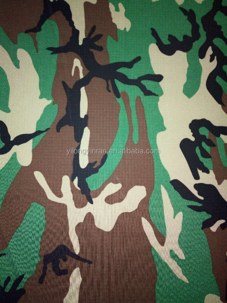 Waterproof Polyester/Cotton blended ripstop fabric VAT-printed with camouflage for military uniform