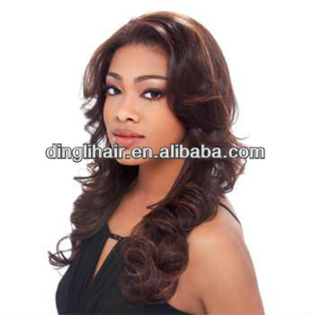 Real human hair GLUELESS wig virgin Malaysian and peruvian hair body wave natural color front lace wig