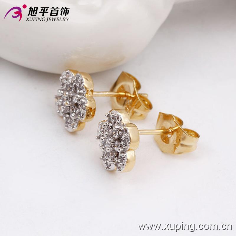 Fashion earrings in stock stud zircon screw back stud earrings