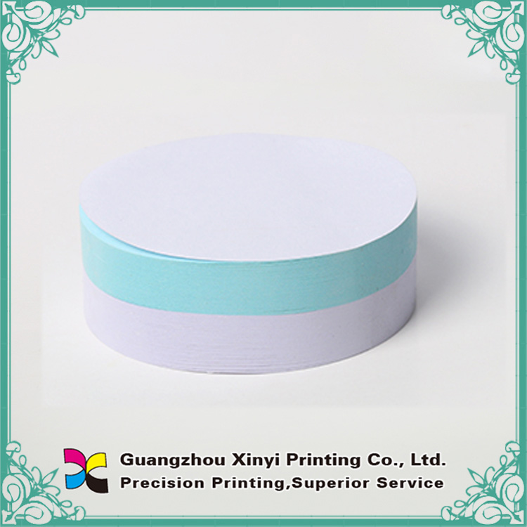 Custom round shape post it sticky note pad
