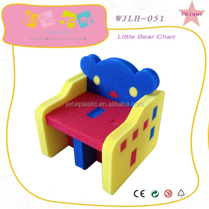 EPE foam children chair and play desk,light chair and table for kids in kindergarten