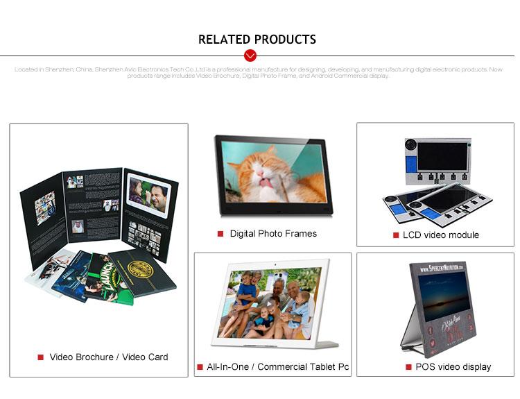नई डिजाइन xxx चीन गर्म थोक 512mb ~ 8GB हार्ड कवर वीडियो विवरणिका रिकॉर्ड करने ग्रीटिंग कार्ड
