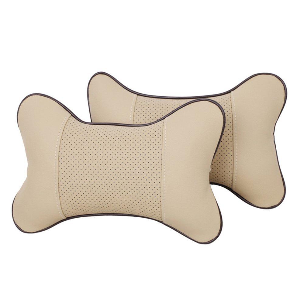 Black VVHOOY 2PCS Car Neck Pillow Comfortable Soft Breathable Car Head Neck Rest Cushion Travel Car Seat /& Home