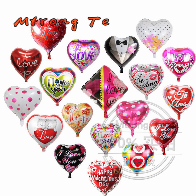 Kinds of Valentine's day wedding decoration 45*45cm heart shaped square foil balloon for love