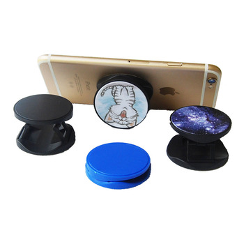 Boce high quality freely samples print black foldable lazy flexible retractable cell phone holder