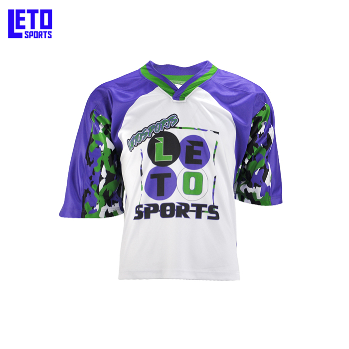 100% breathable polyester lacrosse wear